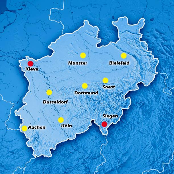 Hauptstandorte Siegen und Kleve
